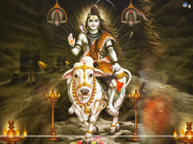Lord Shivan with Nandhi