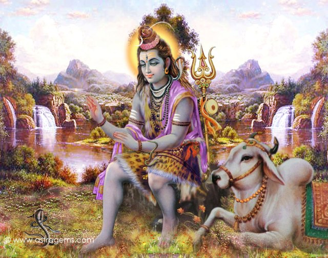 Lord Shivan with Nandhi 3