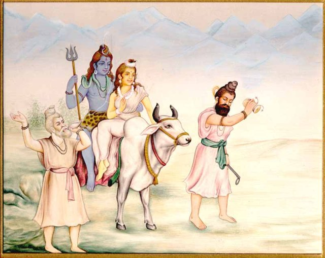 Lord Shiva & Parvathi with Nandhi