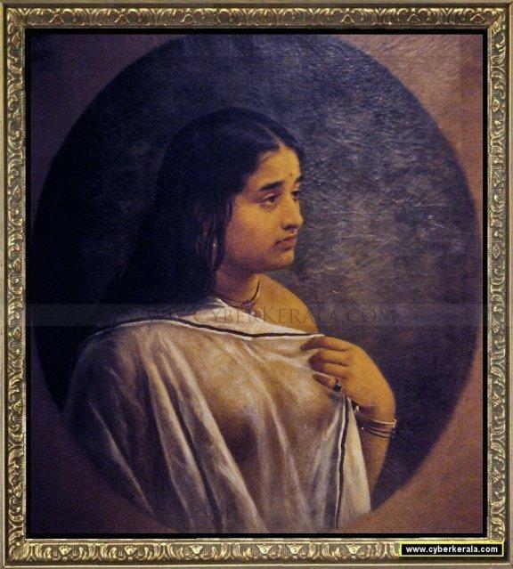 Raja Ravi Varma's oil Paintings: Malayali Girl