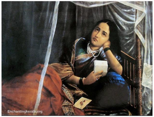 Raja Ravi Varma oil Painting|: Women Disappointing