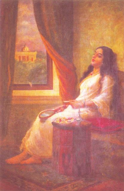 Raja Ravi Varma's Paintings: Women Contemplation