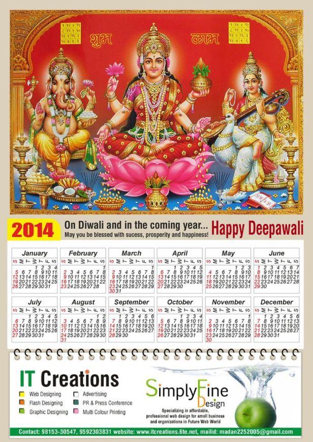 Diwali & New Year Calender