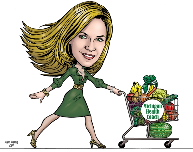 woman_shopper_caricatures