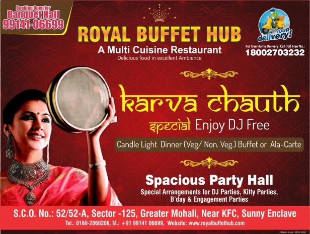 Madan Kumar_Graphic Designer_GFX Karva Chauth Royal Buffet Half Page