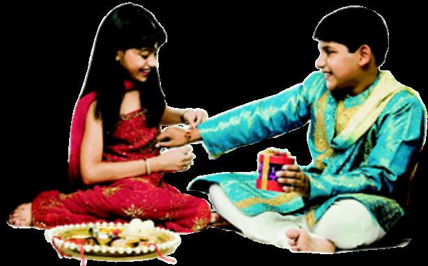 Raksha Bandhan PNG Madangfx moti brother & sister 3