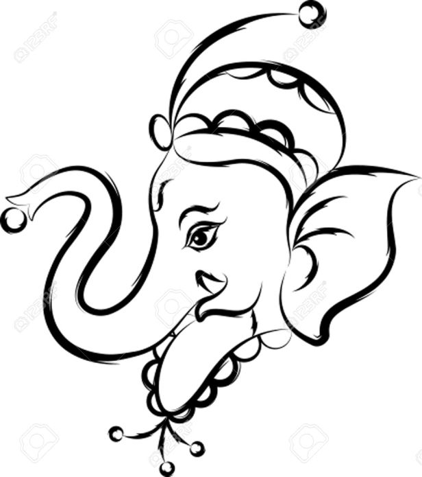 Ganesh Line Drawing : Ganesh chaturthi poster with png knowledge n entertenment